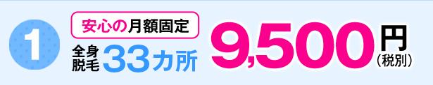 キレイモの月額料金9500円